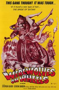 Werewolves on Wheels - 11 x 17 Movie Poster - Style B - Museum Wrapped Canvas