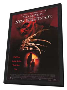 Wes Craven's New Nightmare - 27 x 40 Movie Poster - Style B - in Deluxe Wood Frame