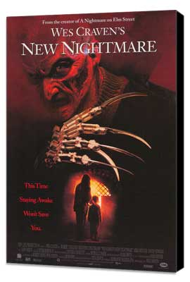 Wes Craven's New Nightmare - 27 x 40 Movie Poster - Style B - Museum Wrapped Canvas