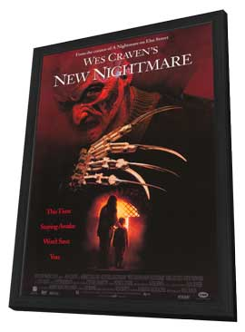Wes Craven's New Nightmare - 11 x 17 Movie Poster - Style B - in Deluxe Wood Frame