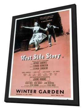 West Side Story (Broadway) - 14 x 22 Poster - Style B - in Deluxe Wood Frame