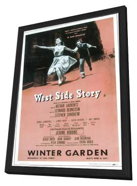 West Side Story (Broadway) - 11 x 17 Poster - Style B - in Deluxe Wood Frame