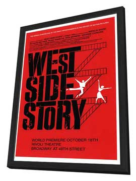 West Side Story (Broadway) - 27 x 40 Poster - Style A - in Deluxe Wood Frame