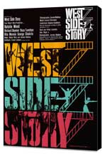 West Side Story - 11 x 17 Movie Poster - German Style A - Museum Wrapped Canvas