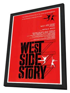 West Side Story - 27 x 40 Movie Poster - Style A - in Deluxe Wood Frame