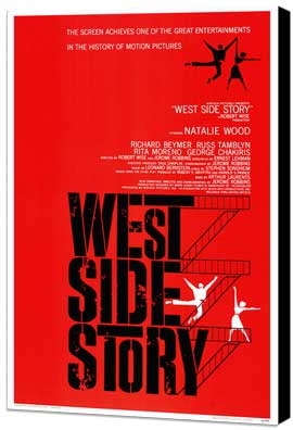 West Side Story - 27 x 40 Movie Poster - Style A - Museum Wrapped Canvas