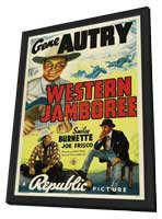 Western Jamboree - 11 x 17 Movie Poster - Style A - in Deluxe Wood Frame