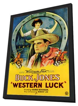 Western Luck - 27 x 40 Movie Poster - Style A - in Deluxe Wood Frame