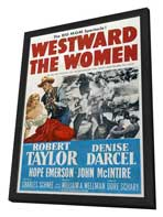 Westward the Women - 11 x 17 Movie Poster - Style A - in Deluxe Wood Frame