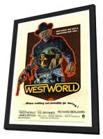 Westworld - 27 x 40 Movie Poster - Style A - in Deluxe Wood Frame