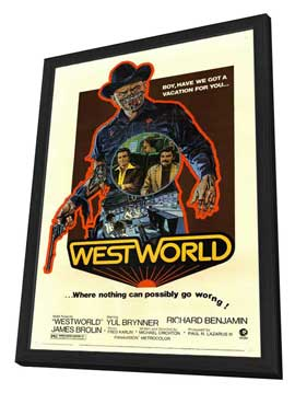 Westworld - 11 x 17 Movie Poster - Style A - in Deluxe Wood Frame