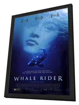 Whale Rider - 27 x 40 Movie Poster - Style A - in Deluxe Wood Frame