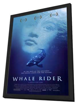 Whale Rider - 11 x 17 Movie Poster - Style A - in Deluxe Wood Frame