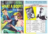 What A Body! - 11 x 17 Retro Book Cover Poster