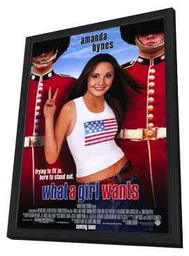 What a Girl Wants - 11 x 17 Movie Poster - Style A - in Deluxe Wood Frame
