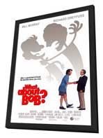 What about Bob? - 27 x 40 Movie Poster - Style A - in Deluxe Wood Frame