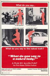 What Do You Say to a Naked Lady? - 11 x 17 Movie Poster - Style A