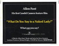What Do You Say to a Naked Lady? - 11 x 14 Movie Poster - Style A