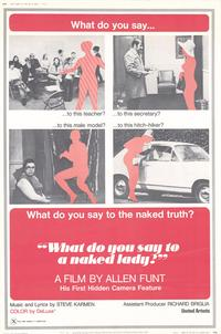 What Do You Say to a Naked Lady? - 27 x 40 Movie Poster - Style A
