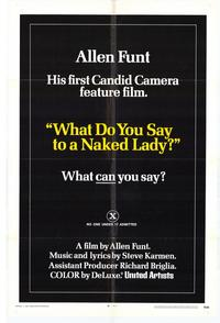 What Do You Say to a Naked Lady? - 11 x 17 Movie Poster - Style C