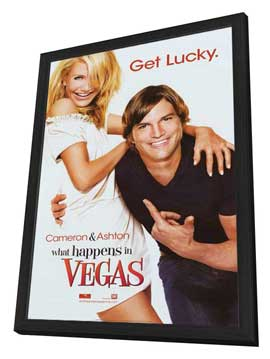 What Happens in Vegas - 27 x 40 Movie Poster - Style A - in Deluxe Wood Frame