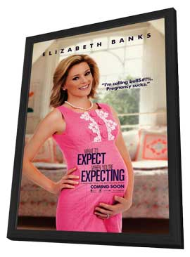 What to Expect When You're Expecting - 11 x 17 Movie Poster - Style B - in Deluxe Wood Frame