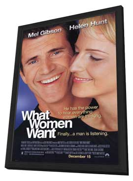 What Women Want - 11 x 17 Movie Poster - Style A - in Deluxe Wood Frame