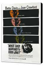 What Ever Happened to Baby Jane? - 27 x 40 Movie Poster - Style D - Museum Wrapped Canvas