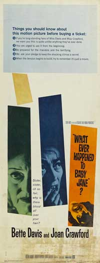 What Ever Happened to Baby Jane? - 13 x 30 Movie Poster - Australian Style A