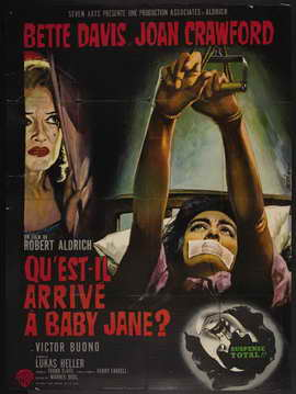 What Ever Happened to Baby Jane? - 27 x 40 Movie Poster - French Style B