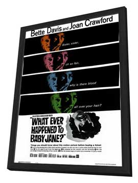 What Ever Happened to Baby Jane? - 11 x 17 Movie Poster - Style B - in Deluxe Wood Frame