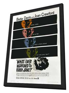 What Ever Happened to Baby Jane? - 27 x 40 Movie Poster - Style D - in Deluxe Wood Frame