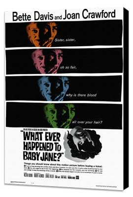 What Ever Happened to Baby Jane? - 11 x 17 Movie Poster - Style B - Museum Wrapped Canvas