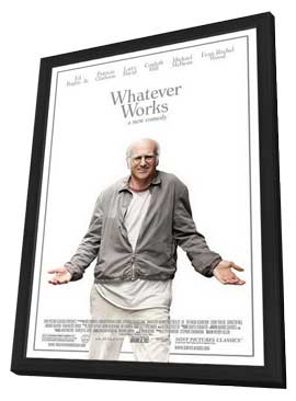 Whatever Works - 11 x 17 Movie Poster - Style A - in Deluxe Wood Frame