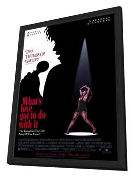 What's Love Got to Do with It? - 11 x 17 Movie Poster - Style A - in Deluxe Wood Frame