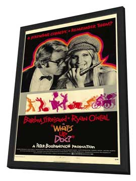 What's Up, Doc? - 27 x 40 Movie Poster - Style B - in Deluxe Wood Frame