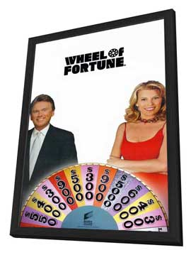 Wheel of Fortune - 11 x 17 TV Poster - Style A - in Deluxe Wood Frame