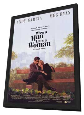 When a Man Loves a Woman - 11 x 17 Movie Poster - Style A - in Deluxe Wood Frame
