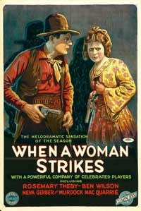 When a Woman Strikes - 11 x 17 Movie Poster - Style A