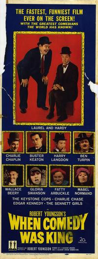 When Comedy Was King - 14 x 36 Movie Poster - Insert Style A