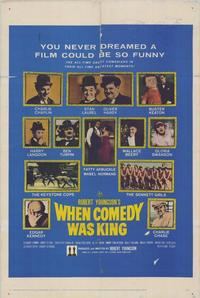 When Comedy Was King - 27 x 40 Movie Poster - Style A