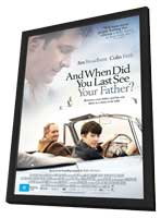 When Did You Last See Your Father? - 11 x 17 Movie Poster - UK Style A - in Deluxe Wood Frame