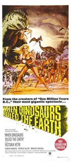 When Dinosaurs Ruled The Earth - 13 x 30 Movie Poster - Australian Style A