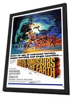 When Dinosaurs Ruled The Earth - 11 x 17 Movie Poster - Style A - in Deluxe Wood Frame