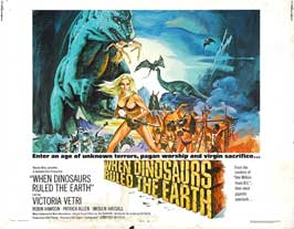 When Dinosaurs Ruled The Earth - 22 x 28 Movie Poster - Half Sheet Style A