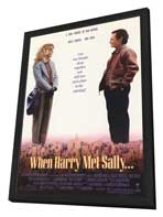 When Harry Met Sally. . . - 11 x 17 Movie Poster - Style A - in Deluxe Wood Frame
