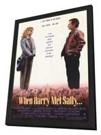 When Harry Met Sally. . . - 27 x 40 Movie Poster - Style A - in Deluxe Wood Frame