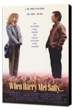 When Harry Met Sally. . . - 27 x 40 Movie Poster - Style A - Museum Wrapped Canvas