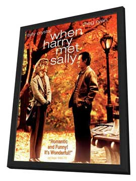 When Harry Met Sally. . . - 11 x 17 Movie Poster - Style B - in Deluxe Wood Frame