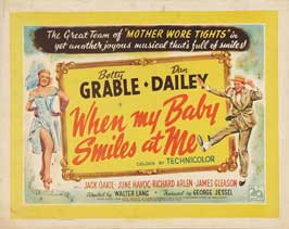 When My Baby Smiles at Me - 30 x 40 Movie Poster UK - Style A